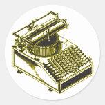 Mecanografíe el ejemplo de la patente de la pegatinas redondas