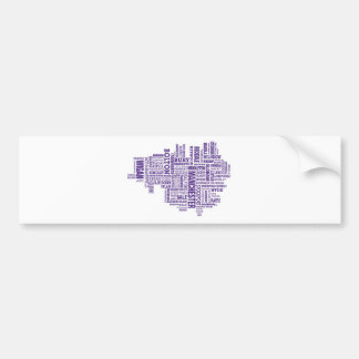 Mecanografíe el mapa de mayor Manchester Etiqueta De Parachoque