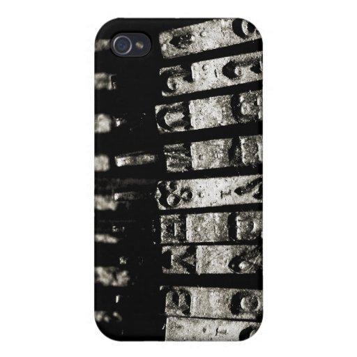 Mecanografíe la caja del iPhone iPhone 4 Carcasas