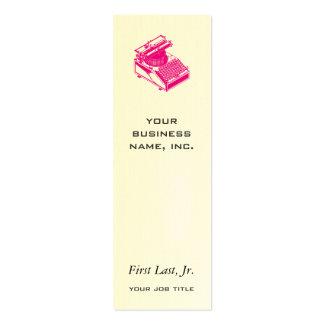 Mecanografíe la magenta de la máquina de la tarjetas de visita mini
