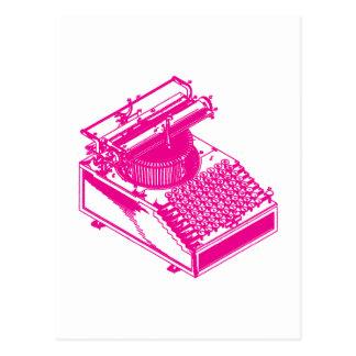 Mecanografíe la máquina de la escritura - máquina tarjetas postales