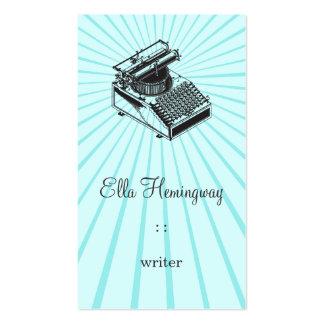 Mecanografíe la máquina de la escritura tarjetas de visita