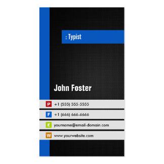 Mecanógrafo - azul elegante moderno plantillas de tarjeta de negocio