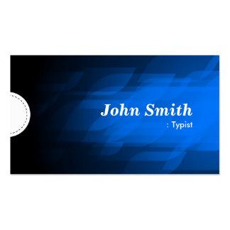 Mecanógrafo - azul marino moderno tarjetas de visita
