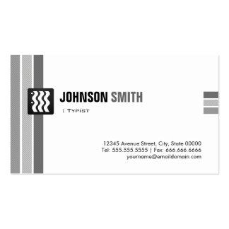 Mecanógrafo - blanco negro creativo tarjeta personal