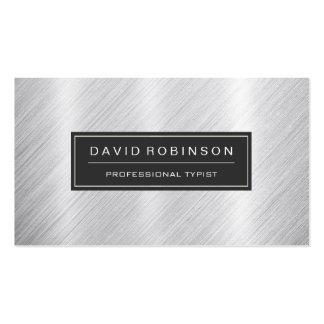 Mecanógrafo profesional - mirada cepillada moderna tarjetas de visita