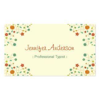 Mecanógrafo profesional - naturaleza elegante tarjetas de visita