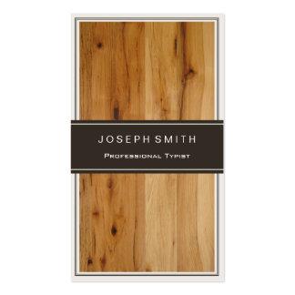 Mecanógrafo profesional - textura de madera tarjetas de visita