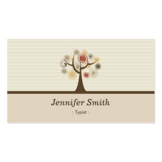 Mecanógrafo - tema natural elegante tarjetas de visita