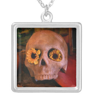 MECA's 2008 Day of The Dead Festival Silver Plated Necklace