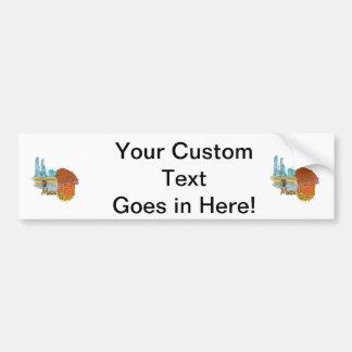 mecca city graphic travel image.png bumper sticker