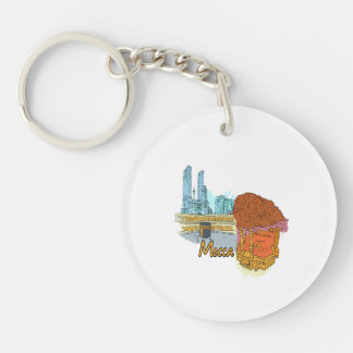 mecca city graphic travel image.png keychain