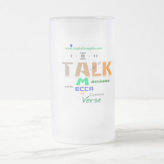 mecca - glass frosted glass beer mug