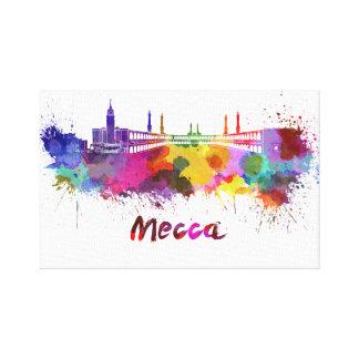 Mecca skyline in watercolor canvas print