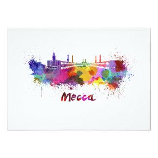 Mecca skyline in watercolor card