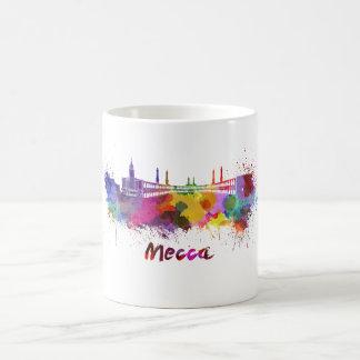 Mecca skyline in watercolor coffee mug