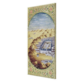 Mecca surrounded by the Mountains of Arafa Gallery Wrapped Canvas