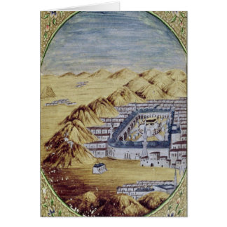 Mecca surrounded by the Mountains of Arafa Card