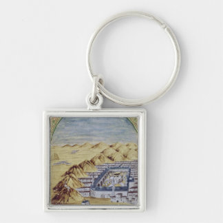 Mecca surrounded by the Mountains of Arafa Keychain