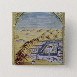 Mecca surrounded by the Mountains of Arafa Pinback Button