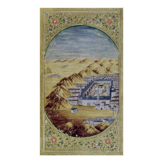 Mecca surrounded by the Mountains of Arafa Print