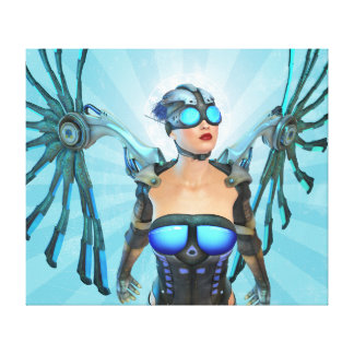 Mech Angel Surreal Art Wrapped Canvas