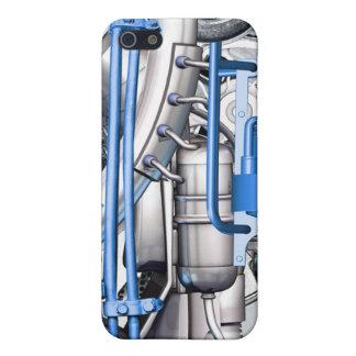 Mech azul - caso del iPhone iPhone 5 Cobertura