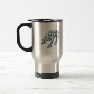 Mecha Bot High Angle Etching 15 Oz Stainless Steel Travel Mug