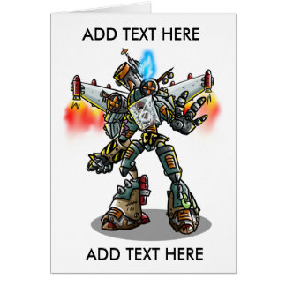Mecha Greetings! Card