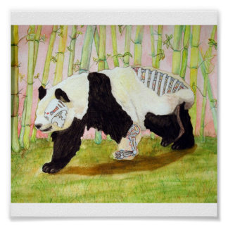 Mecha Panda Poster