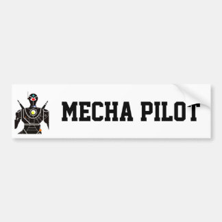 Mecha Pilot Bumper Sticker