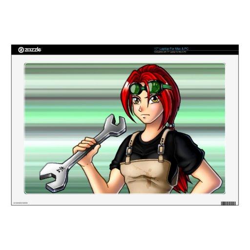 Mechanic Anime Girl Laptop Skins