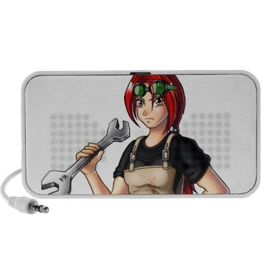 Mechanic Anime Girl Mini Speaker
