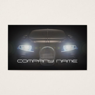 Mechanic Automotive Black  Lights Front Night Business Card