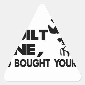 Mechanic, built mine triangle sticker