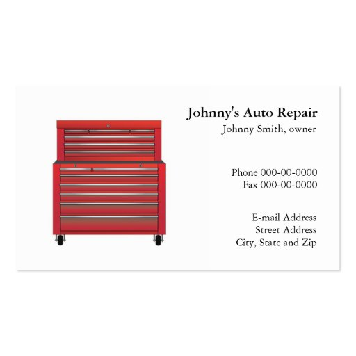 Mechanic business card zazzle for Mechanic shop business cards