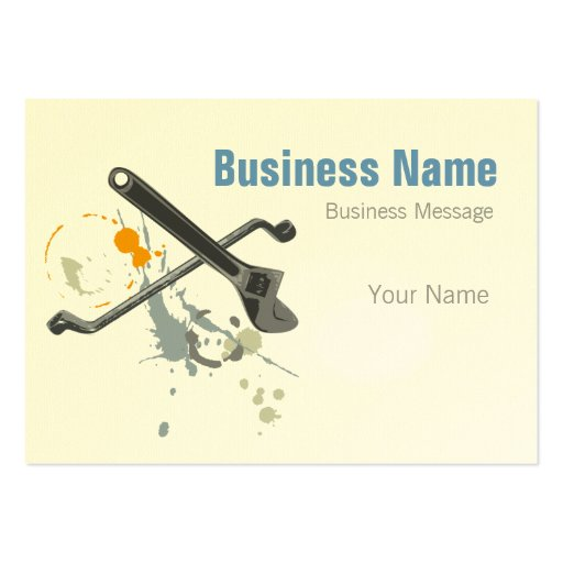 mechanic large business cards  pack of 100