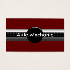 Mechanic Business Cards at Zazzle