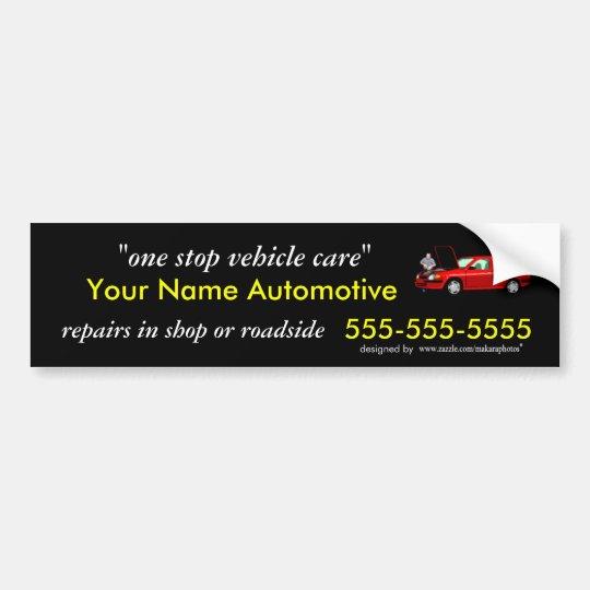 Mechanic Business Sticker customize