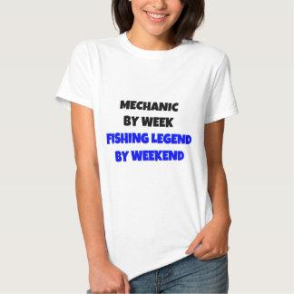 Mechanic by Week Fishing Legend By Weekend Tee Shirt