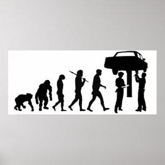 Mechanic Car Repair Workshop Staff Mens Work Poster