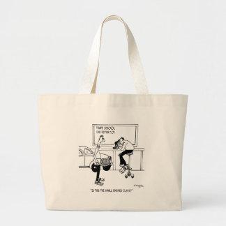 Mechanic Cartoon 5940 Large Tote Bag