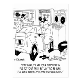 Mechanic Cartoon 9355 Postcard