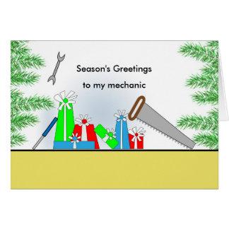 Mechanic, Christmas Retro Presents, Tools Card