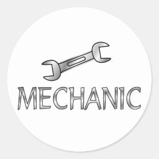 Mechanic Classic Round Sticker
