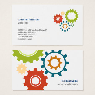Mechanical engineering technician business cards templates zazzle mechanic cogs engineer business cards fbccfo Images