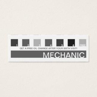 MECHANIC customer appreciation (mod squares) Mini Business Card