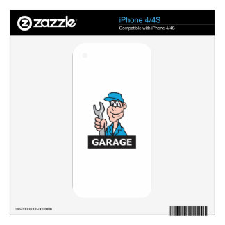 MECHANIC GARAGE SKIN FOR iPhone 4S