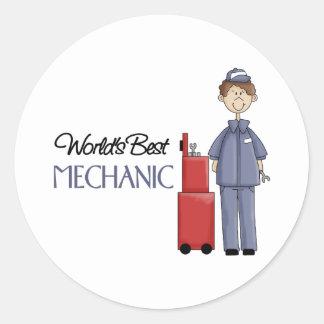 Mechanic Gift Round Stickers