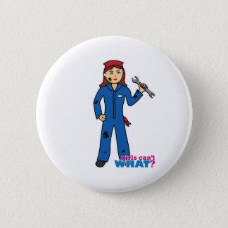 Mechanic Girl Pinback Button
